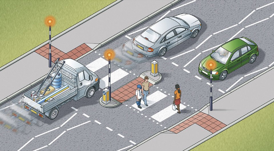 Rule 20: Zebra crossings with a central island are two separate cross ings